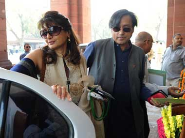 Sunanda and Shashi Tharoor. AFP