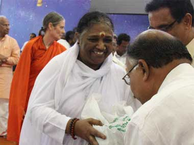 The claims against the godwoman have largely gone ignored. Image: Amritapuri.org