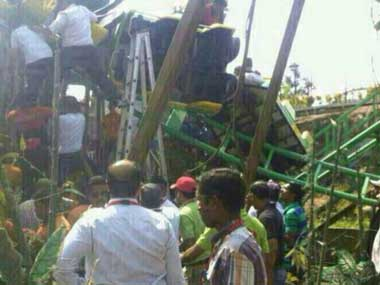 The roller-coaster accident. Image courtesy Twitter