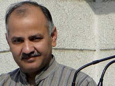 Delhi Education Minister Manish Sisodia. PTI