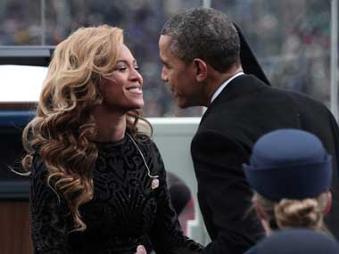 Barack Obama and Beyonce Knowles. Reuters image