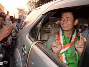 West Bengal Assembly Election 2016 Trinamool Congress candidate from Siliguri Baichung Bhutia. PTI