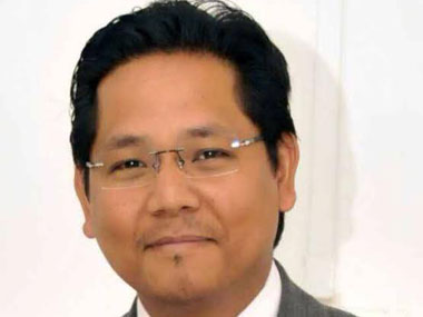 Meghalaya Leader of Opposition Conrad Sangma and new Tura MP. Image courtesy Conrad's Facebook account