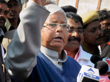 Lalu Prasad Yadav in this file photo. PTI