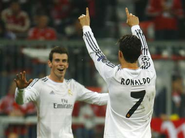 File photo of Gareth Bale and Cristiano Ronaldo. Reuters