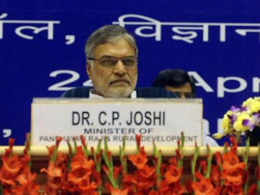 Congress' CP Joshi in this file photo. AFP