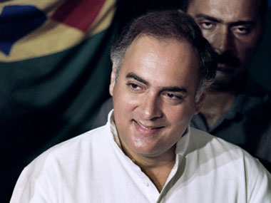 A file photo of Rajiv Gandhi. AFP