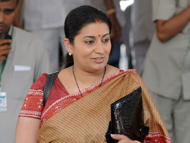 Smriti Irani in this file photo.  AFP