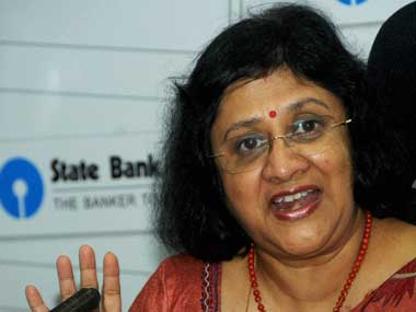 State Bank of India chairperson Arundhati Bhattacharya. PTI