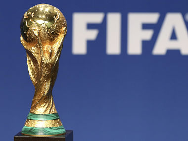 A replica of the FIFA Soccer World Cup Trophy. Reuters