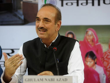 File image of Congress leader Ghulam Nabi Azad. AFP