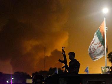 Gunfire and explosions lit up the Karachi night sky: AP