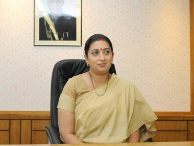 Smriit Irani taking charge of HRD ministry. PIB