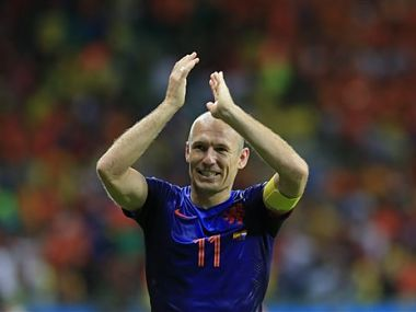 Netherlands' Arjen Robben had a great game against Spain. AP