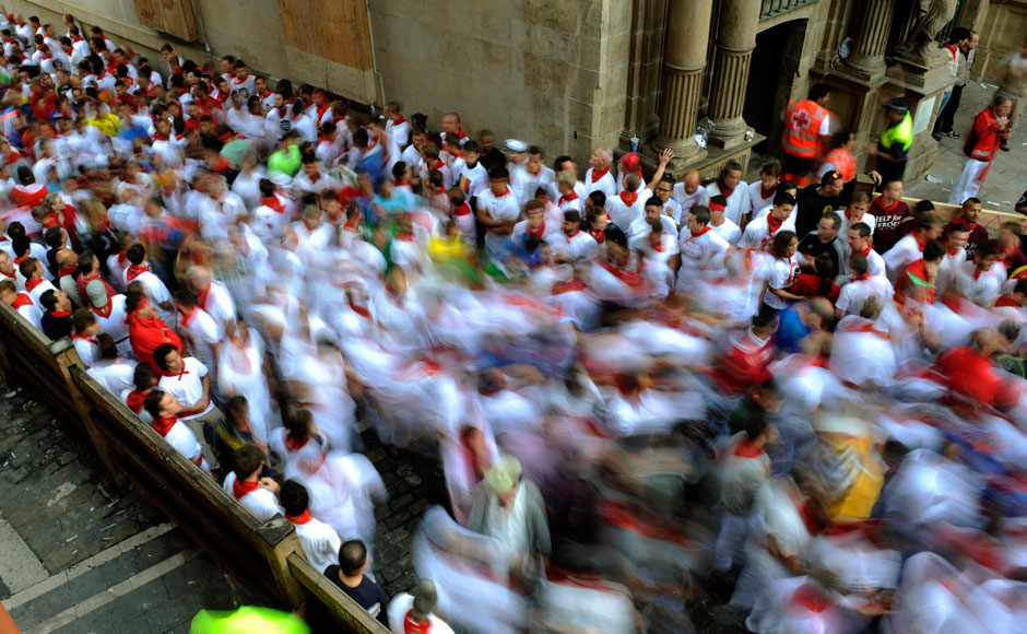 Pamplona Spain  City new picture : 05 The annual San Fermin bull running festival in Pamplona Spain