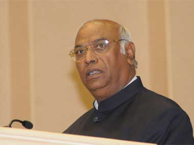 Leader of Congress in Lok Sabha Mallikarjun Kharge. Image courtesy PIB