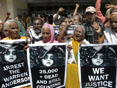 The Bhopal gas tragedy is the worst industrial mishap in India. AFP