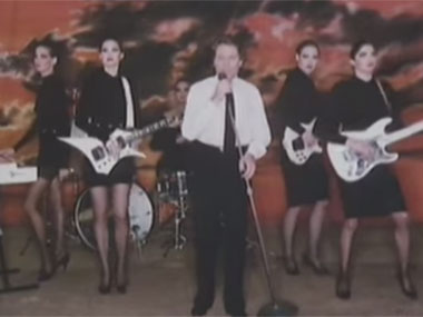 Robert Palmer in a still from Addicted to Love. Screengrab from YouTube.