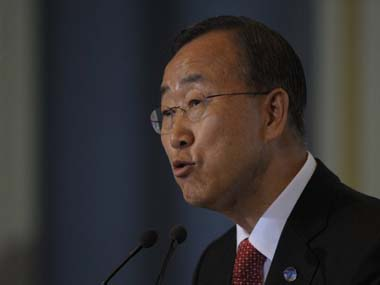 UN Secretary General Ban Ki-moon. AFP
