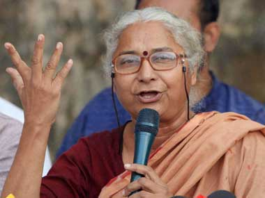 medha patkar Earlier, patkar addressed a public meeting, which was attended by farmers they complained that their land was acquired and they didn't get right compensation.