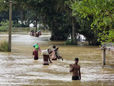 File image of floods in Odisha. PTI