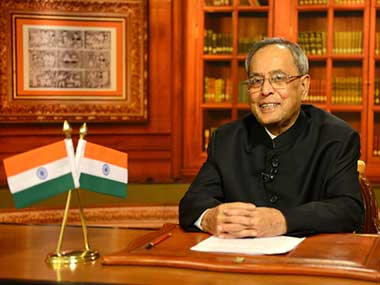 President Pranab Mukherjee during his address to the nation on the eve of Independence Day.