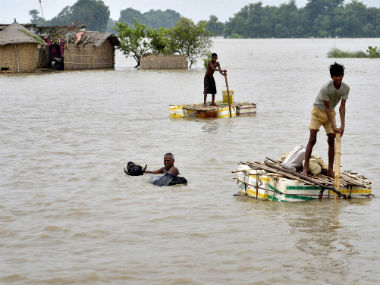 An image of recent floods in Bihar. Reuters