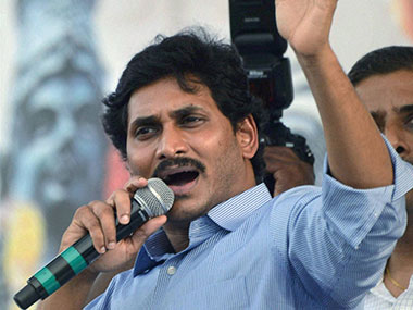 YSR Congress chief Jagan Reddy. PTI
