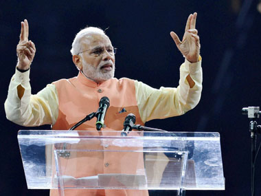 Prime Minister Narendra Modi addressed a massive rally in Madison Square Garden last year. PTI