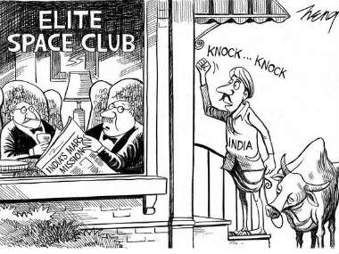 The NYT cartoon is seen in this photo.