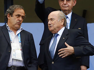 File photo of Michel Platini and Sepp Blatter. Reuters.