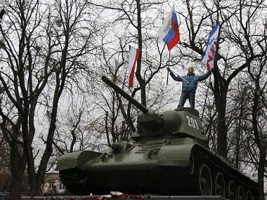 File image of Ukrainian rebels. AP