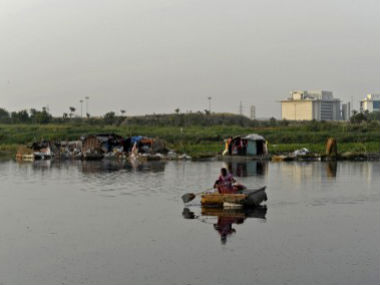 A file photo of the Yamuna. AFP