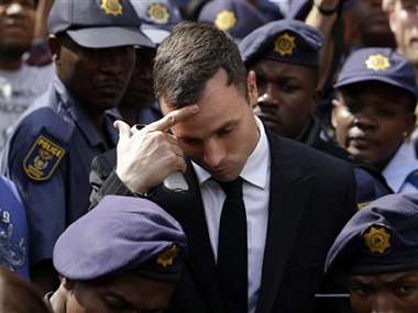 File photo of Oscar Pistorius. AP