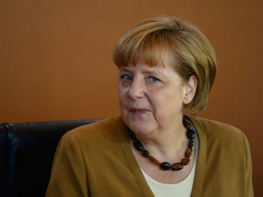 File image German chancellor Angela Merkel. AFP