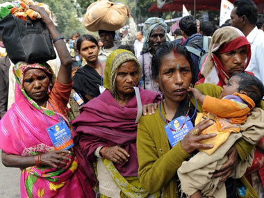 Dalit women at a protest march in Delhi. Representational image. AFP.