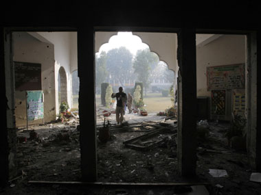 A part of the Peshawar army public school after the terror attack. Image used for representational purposes. AP