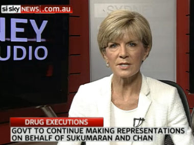Julie Bishop in this screenshot.