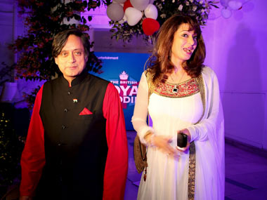 Former Union minister Shashi Tharoor and his wife Sunanda Pushkar. Getty Images