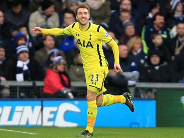 Eriksen opened the scoring for Spurs. AP