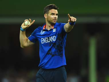 File photo of James Anderson. Getty Sports