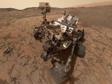 The selfie taken by Mars rover Curiosity. Twitter