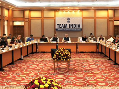 File image of a meeting of the NITI Aayog. Image courtesy: PIB