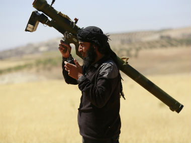 A file photo of an Al-Nusra militant. Reuters