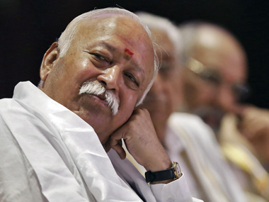 RSS chief Mohan Bhagwat. Reuters