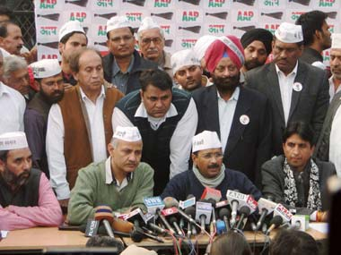 An AAP meeting. PTI