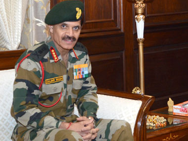 Indian Army chief General Dalbir Singh Suhag. Image courtesy PIB