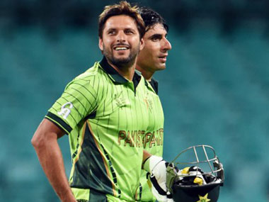 Shahid Afridi and Misbah-ul-Haq. AFP