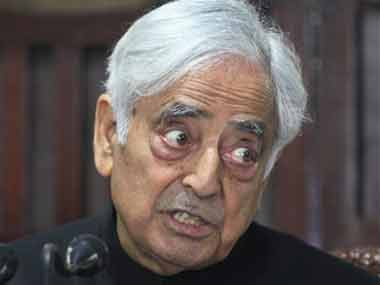 Jammu and Kashmir CM Mufti Mohammed Sayeed. AP