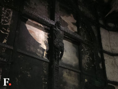 The Delhi church which caught fire. Firstpost/Tarique Anwar